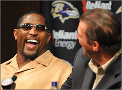 "Ray Lewis said his Pro Bowl announcement that he wouldn't take a hometown discount from the Ravens was the result of ""a couple of Mai Tais."""