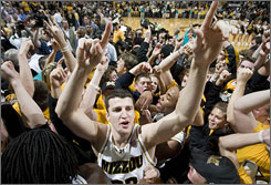 Missouri's Matt Lawrence hopes this group of Tigers has better luck in Boise than the last Missouri team to play an NCAA tournament game there. That year, UCLA's Tyus Edny hit a game-winning layup to send Mizzou packing.