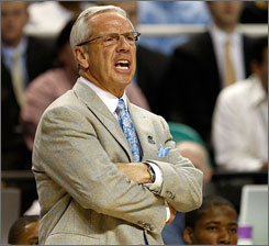 North Carolina coach Roy Williams says buildings don't win games for his team in the NCAA tournament, his players do.