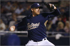 Kevin Correia is expected to be the Padres' No. 4 starter.