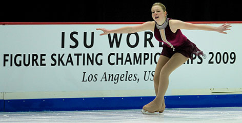 The USA's Rachael Flatt, 16, the 2008 world junior champion, will be competing in her first world championships, which begin today.