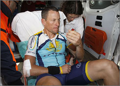 Lance Armstrong said Tuesday night that his broken collarbone will be more complicated to fix than originally thought.
