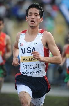 German Fernandez, running in an IAAF World Cross Country Championships race on March 30, 2008, will race in the World Junior Cross Country Championships in Amman, Jordan on Saturday.