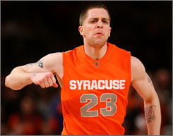 """I've been playing like this ever since I was little,"" says Eric Devendorf, Syracuse's sharp-shooting senior guard. ""Obviously, everybody is going to have an opinion  whatever that is  but I'm just going to continue to play my game."""