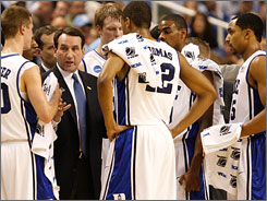 """""""When we need it, we get strength from him,"""" Duke's Gerald Henderson says of coach Mike Krzyzewski. """"I've said all season, his passion is something I've never seen in anybody before."""""""
