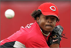 Edinson Volquez, 17-6 with a 3.21 ERA last season, will be leading the Reds' all-right-handed rotation.