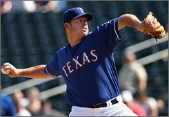 Kevin Millwood is the ace of the Rangers rotation, which allowed 3.5 walks per game last season. 