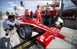 Dario Franchitti gets reacquainted with an IndyCar cockpit during IRL's preseason testing Feb. 25 at Homestead, Fla. Franchitti returns to the open-wheel tour after a foray into NASCAR was cut short.