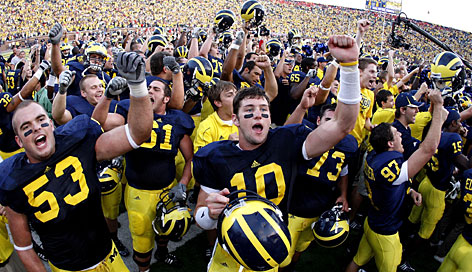 IMG gave Michigan's athletic program a contract extension worth more than $86 million over 12 years in 2008. During the last 14 months, IMG has put up $560 million-plus to maintain and expand its roster of multimedia rights clients, including a $110 million, 10-year deal with Ohio State struck on Monday.