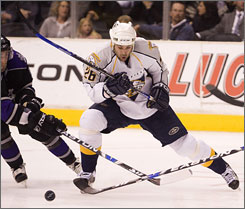 Steve Sullivan has energized the Nashville Predators since his return to the lineup in 2009.