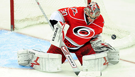 Cam Ward seems to have returned to form this year for the Carolina Hurricanes.