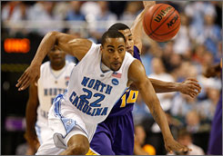 Wayne Ellington, a junior projected as a late first-round pick if he declares for the NBA draft, and North Carolina are favored to defeat Villanova in one of the Final Four games on Saturday.