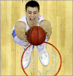 Tyler Hansbrough came back to North Carolina for one last run at a national title and he and the Tar Heels get that chance this weekend in Detroit.