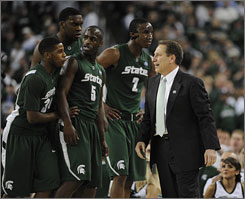 Michigan State coach Tom Izzo, who grew up with former NFL coach Steve Mariucci in Iron Mountain, Mich., hasn't strayed far from his roots.