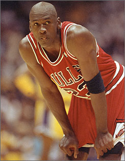 Michael Jordan was a six-time NBA Finals MVP during his heyday with the Chicago Bulls.