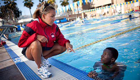 Alison Terry, the lone African American on USA Swimming's board, coaches minority swimmers in San Diego. Her goal is to change the makeup of the swim teams sent to future Olympics.