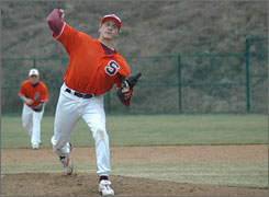 John Lunardi had a good weekend on the baseball diamond, pitiching a perfect game on Saturday and swatting two home runs on Sunday in Susquehanna's two victories.