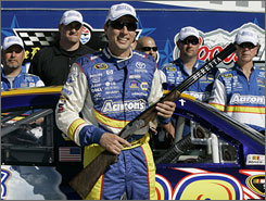 David Reutimann, holding the Samsung 500 pole award that he won last weekend at Texas Motor Speedway, currently stands 11th in points. He finished last season 22nd, up 17 spots.