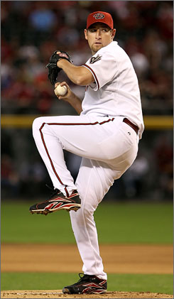 Diamonbacks ace Brandon Webb, who pitched in the opener, will miss his scheduled start on Saturday because of shoulder stiffness.