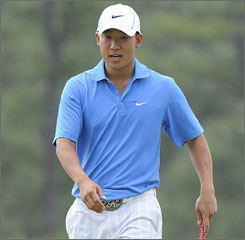 After opening with a 75, Anthony Kim is in contention after his stirring second round that included 11 birdies.