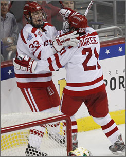 Boston University enters the NCAA title game as the favorites, but will be tested by Miami (Ohio).