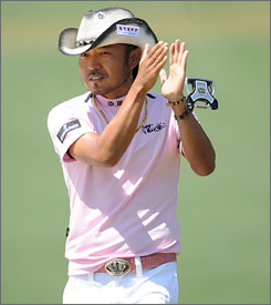 Shingo Katayama punched his ticket to the 2010 Masters by closing with a 4-under 68 on Sunday.