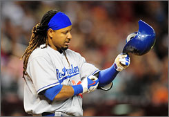 "The Dodgers' Manny Ramirez is enjoying his time in Los Angeles, but wouldn't mind one more shot with the Cleveland Indians. ""I think to go back where you started is everyone's dream."""