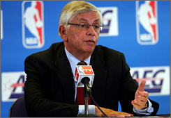 David Stern says the NBA will present the players association with information on the league's financial situation when the sides begin talks in June.