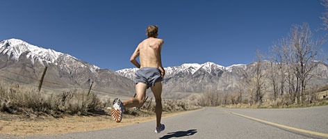 Ryan Hall, training at altitude in the Sierra Nevada, has the fastest personal best going into the Boston Marathon, last won by a U.S. man in 1983.