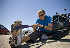 """A Team Running USA colleague says Hall, 26, is now at his strongest ever """"in mind and body."""""""