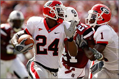 Georgia running back Knowshon Moreno could be a first-round pick in the April 25 NFL draft.