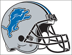 The Lions new logo and uniforms includes a new helmet design.