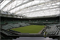 The new roof at Centre Court at the All England Club will be used during inclement weather and could allow matches to be played past dark.