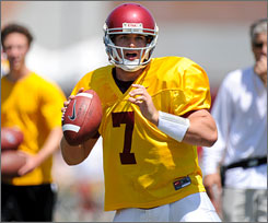 Matt Barkley will compete for the Southern California quarterback job as a true freshman this fall.