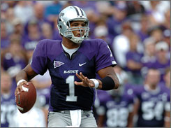 Kansas State QB Josh Freeman has leapt up many analysts' draft boards and may be selected in the first half of Saturday's first round.
