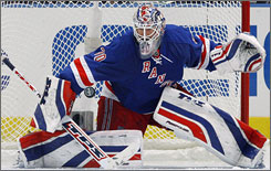 The Washington Capitals sent a flurry of shots at New York Rangers goalie Henrik Lundqvist in Game 4, and he turned away all but one in the Rangers' 2-1 win. The series returns to Washington for Game 5 on Friday.