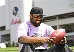 "Michael Oher says he doesn't hold grudges against anyone for the misfortune he encountered as a child. ""I don't dwell on anything,"" Oher says. ""I'm not going to feel sorry for myself because I didn't have a place to stay a lot of time. It is what it is. We've got to go through some things in life. Take it and run with it."""