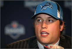 """Fans in New York chanted """"over-rated"""" when commissioner Roger Goodell read Matthew Stafford's name on Saturday."""