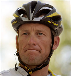Seven-time Tour de France champion Lance Armstrong has posted an average of eight updates to his Twitter account since joining the website in October 2008.