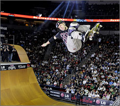 """Pierre-Luc Gagnon, competing in Seattle in 2008, wants to be judged on his skating, shunning """"the reality-show lifestyle."""""""
