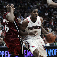 Hawks' Joe Johnson made six-of-eight shots from beyond the arc and scored a team-high 27 points in Game 7 against the Heat.