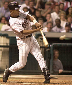 Outfielder Moises Alou made a habit of having great months of April during his 17-year career that included three seasons with the Houston Astros.