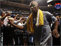 Given the chance for the second time to play for his hometown NBA team, Chauncey Billups has become a fan favorite in leading the Nuggets into the second round of the playoffs.
