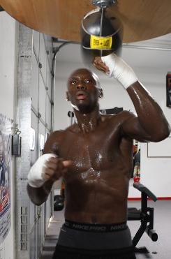Former light heavyweight champion Antonio Tarver during a workout in Las Vegas. Tarver will attempt to regain the IBF title he lost to Chad Dawson when the boxers meet for a rematch at the Hard Rock Hotel & Casino in Las Vegas on May 9.