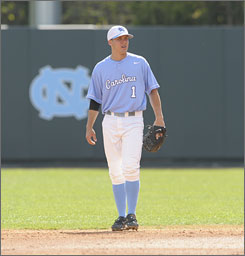 Levi Michael is second in homers at UNC despite the sudden elevator ride to the top.