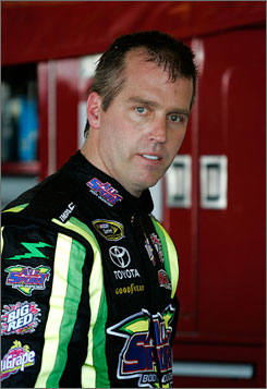 NASCAR has suspended Jeremy Mayfield, above, indefinitely after the driver failed a random drug test.