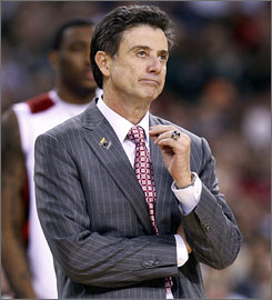 Louisville coach Rick Pitino has twice left the college ranks for jobs in the NBA.