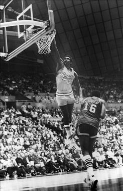 Spencer Haywood, shown playing for the Seattle SuperSonics in 1972, successfully sued the NBA, paving the way for college underclassmen to enter the draft.