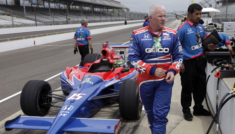 "Paul Tracy is back at Indianapolis for the first time since losing in a controversial finish in 2002. Said Tracy, ""Time heals all wounds."""
