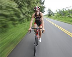 University of Georgia is a triathlete Matthew Sanchez, 20, made most of his recovery from a neck injury and will be doing a charity ride across the country to raise money for the SHARE Initiative, which helps with the recovery and treatment of Iraq War veterans.